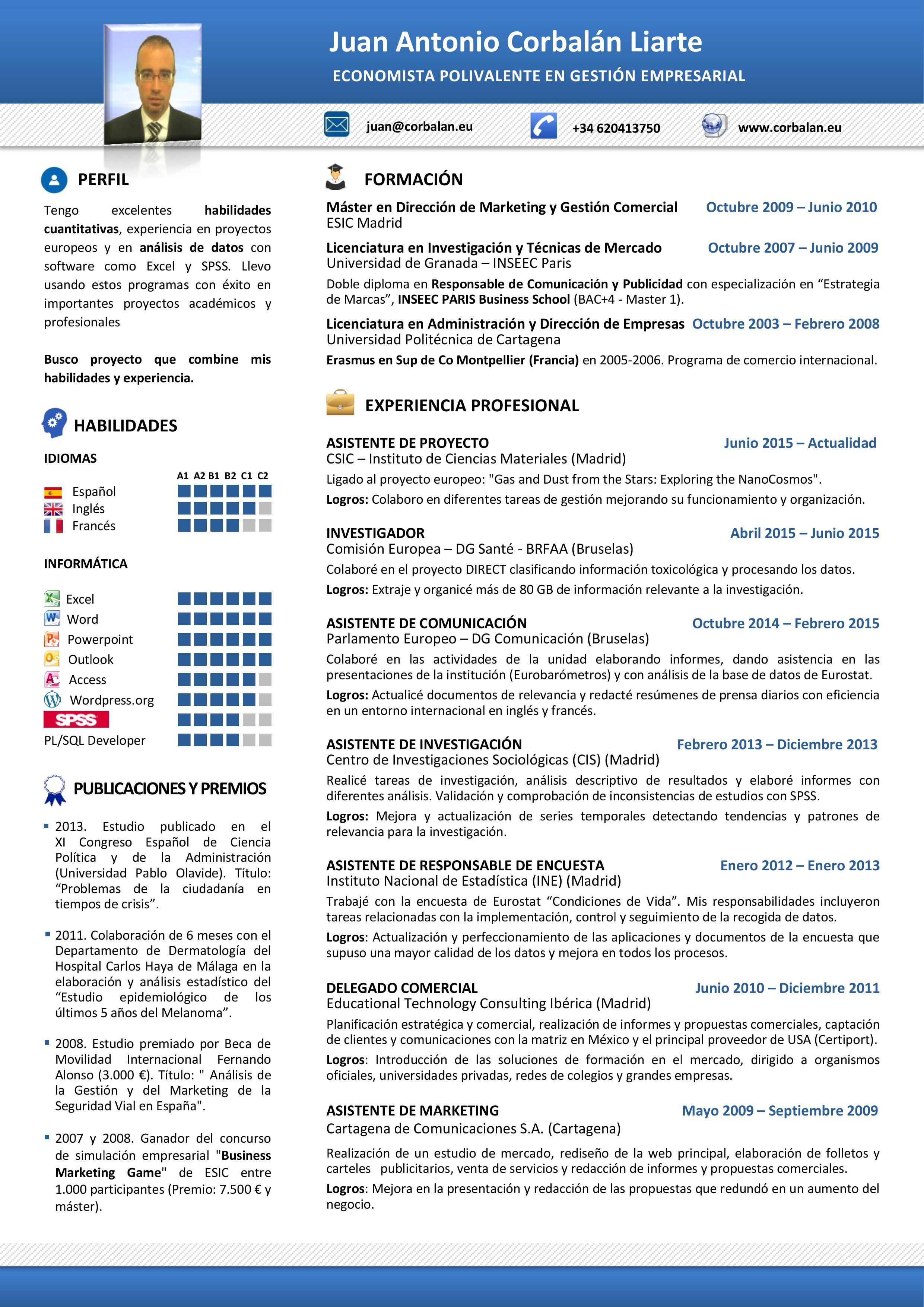 Juan Antonio Corbalan - Curriculum Vitae